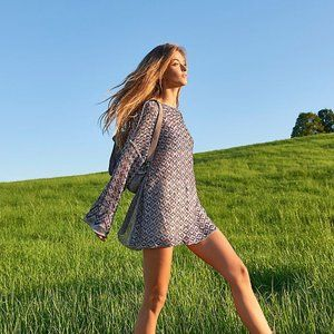 Free People Silver Lining Tunic Dress NWT size L